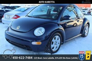 2003 VOLKSWAGEN NEW BEETLE,TOIT OUVRANT,CUIR CHAUFFANT,A/C, MAGS