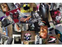 Airbrushing Custom Painting, helmets, tanks, bikes