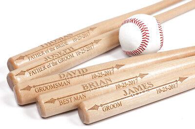 Personalized Mini Baseball Bat, Wedding, Groomsman, Little League, Made in USA Wood Personalized Baseball Bat