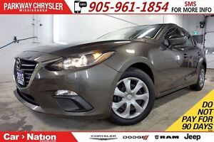 2015 Mazda MAZDA3 GX| SKY-ACTIV| BLUETOOTH| GREAT ON GAS!