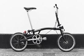 Brompton m1e folding bike 2018 model fresh condition