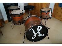 Ddrum Diablo Drum Shell Pack and Mapex Throne