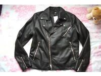 H&M Mens faux leather jacket size M