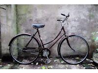 RALEIGH CAMEO, 21 inch, vintage ladies women's dutch style loop frame traditional bike, 3 speed