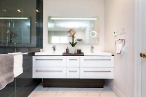 BATHROOMS VANITY & SIDE CABINETS  - FAUCETS -SHOWERS -BATHS HUGE SELECTION