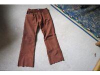 Mens Suede Jeans
