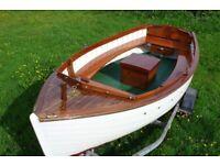 Boat classic clinker built launch