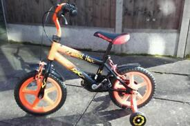 Boys 14 inch bike with stabilisers