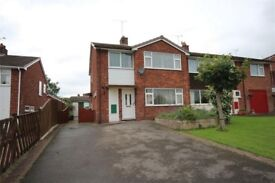 3 bedroom semi detached house available immediately in the lovely Village of Denstone