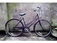 RALEIGH CHILTERN, 18 inch, vintage ladies womens dutch style road city bike, 3 speed, loop frame
