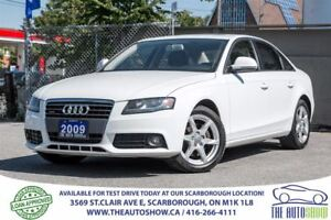 2009 Audi A4 2.0 Quattro AWD Sunroof Leather