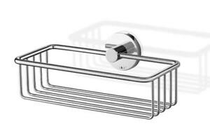 NEW Zack 40084 Scala Shower Basket, Small, Silver Metalic Stainless Steel