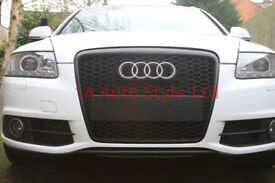 Black honeycomb mesh car grill for Audi A6 2008-2011 C6 4F
