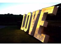 ✨ Light Up LOVE Letters for Hire in Manchester/Cheshire ❤ Special Offer 💫