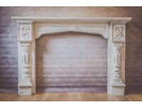 shabby chic fireplace