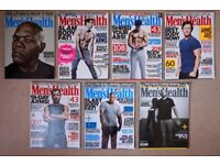 Mens/Men's Health Magazines x7 selection - June 2016 to March 2017 | Central Reading