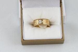 Bague or avec diamant (u005904)