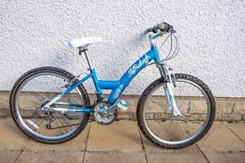 "Raleigh Diva Girls 24"" Front Suspension Mountain Bike, Colour - Ocean Blue - For Age: 9-12 yrs"