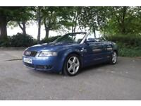 Low Mileage Audi A4 3.0 V6 Convertible Cabriolet (not BMW,Mercedes,Vw,Ford,Renault)