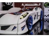 Children's car beds with LED lights and sounds
