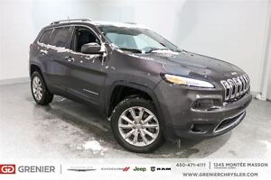 2014 Jeep Cherokee Limited*Cuir, Toit Pano, Nav, Active Drive 2*