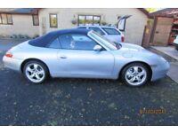 1999 porsche 911 carrera 4 convertible / 6 speed manual / private plate included