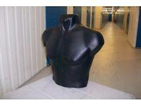 Mannequin Male Black Torso Display Bust, Body form x 8
