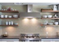 Tilles wall & floor - laminate flooring - kitchen fitters