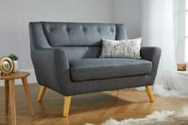 Lambeth 2 Seater Soft Grey Fabric Sofa selling at £200 this is £349.99 to buy
