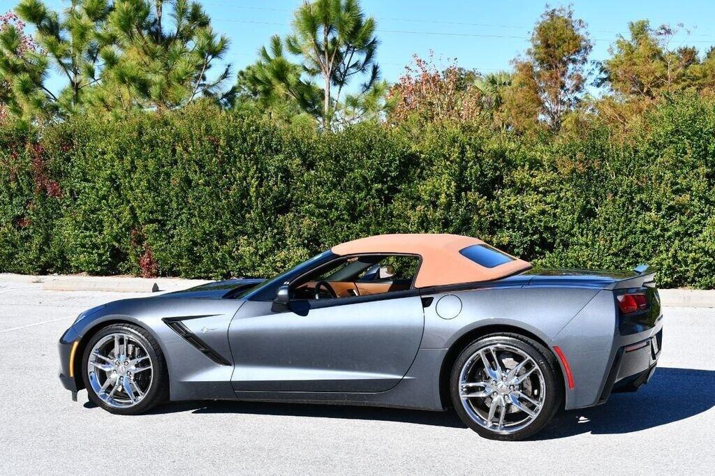 2014 Gray Chevrolet Corvette Convertible 3LT | C7 Corvette Photo 4