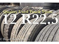 Used tyres - part worn truck tyres for export 12 R22.5