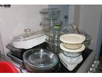 Large Quantity of used Pyrex Cookware ect 22 items