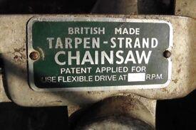 Vintage Tarpen Strand chainsaw & strimmer attachment's.