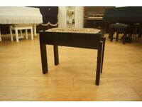 Ebony piano stool. Art Deco