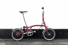 folding bicycle BROMPTON M2L RED (NEW PARTS) full service lightweight 2014 year