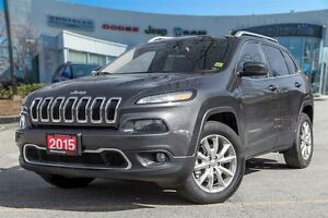 2015 Jeep Cherokee Limited, NAVI, ONE OWNER