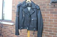 GUESS (Jeans) Leather Motorcycle Jacket