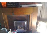 Electric fire wood surround