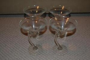 Set of 4 Martini Glasses Kitchener / Waterloo Kitchener Area image 1