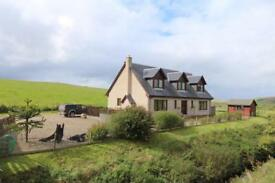 5 Bedroom home with 3 acres of land and commercial yard on beautiful Mull of Kintyre