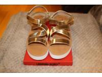 London Rebel Gold Sandals