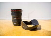 Canon 17-40mm f/4 L with hood and pouch