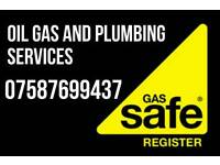 Gas, oil and plumbing services 24/7 emergency, boiler services, installations break downs repairs