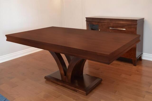 Modern Solid Mahogany And Solid Maple Oak Cherry Dining
