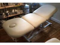 White Electric Beauty Couch with LINAK Electric System