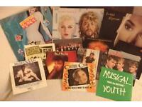 Selection of 80's vinyl records
