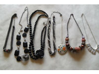 Over 30 necklaces & 4 Bracelets mostly new