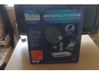 mini satellite system for van or caravan