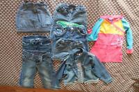 Jacket, jeans, short, shirt and skirt Mexx, Levi's size 2 to 4