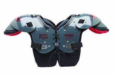 Adams Youth Player All Purpose Football Shoulder Pads Gray/Red - 8981000